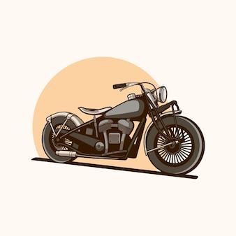 Chopper moto d'epoca vettore minimalista