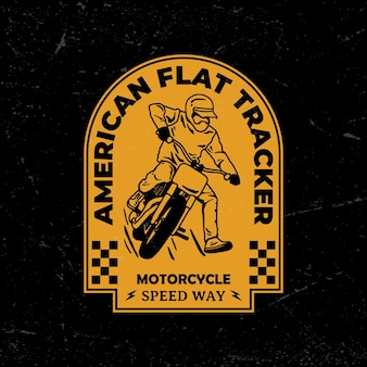 Distintivo con logo moto d'epoca