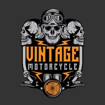 Logo di riparazione moto d'epoca