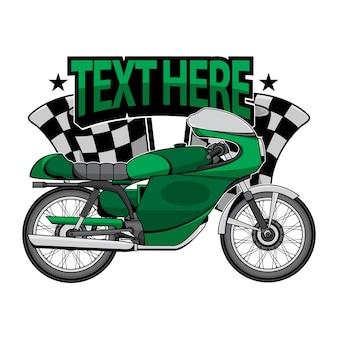 Logo vettoriale di moto d'epoca