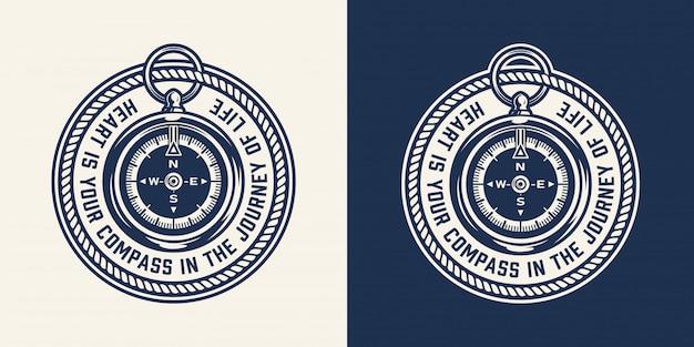 Stampa rotonda nautica vintage