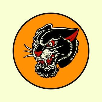 Distintivo di tatuaggio americano vintage vecchia scuola