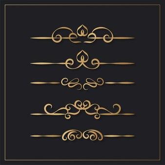 Elementi di design ornamentale vintage
