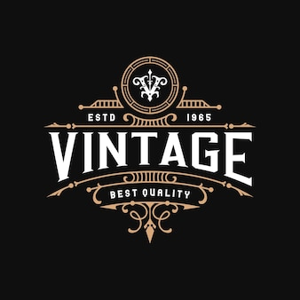 Logo di design del telaio ornamentale vintage