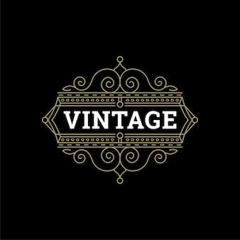 Ornamenti vintage turbinii e decorazioni di arte linea elementi di design