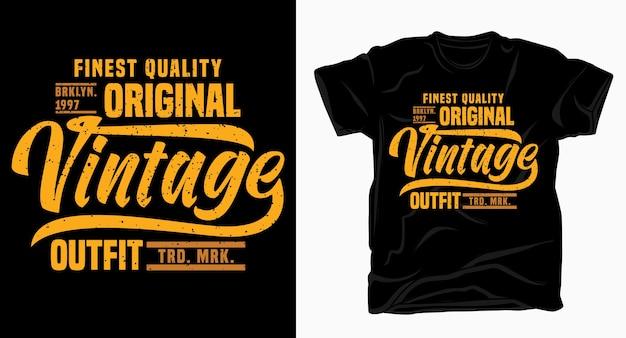 Design tipografico di abbigliamento vintage per maglietta
