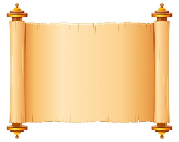 Rotolo di papiro vintage, carta pergamena