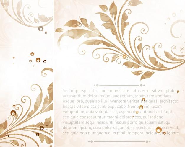 Vintage pattern floreale carta di opere d'arte
