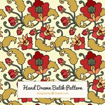 Vintage pattern di fiori disegnati a mano