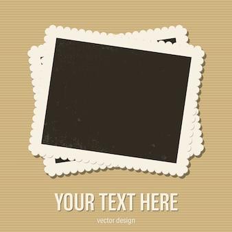 Vintage photo frame illustrazione isolato su sfondo