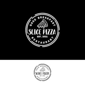 Ispirazione per il design del cerchio del timbro del logo del logo della pizzeria vintage