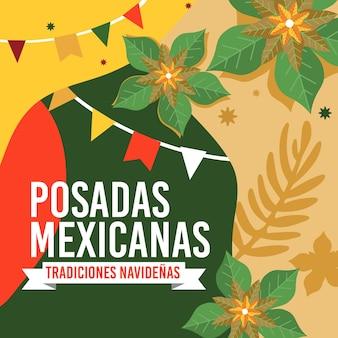 Sfondo vintage posadas mexicanas