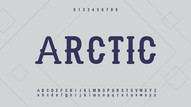 Caratteri alfabeto retrò vintage