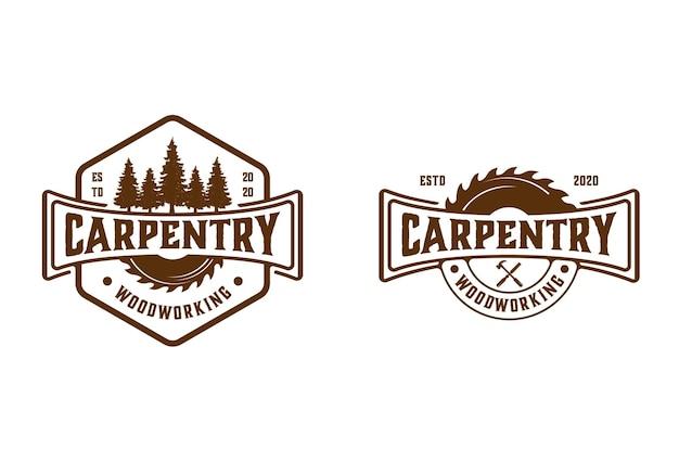 Carpenteria vintage retrò, lavorazione del legno, boscaiolo
