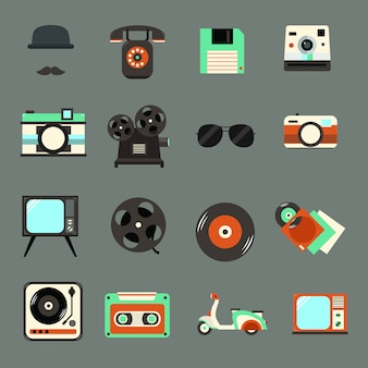 Vintage, retro icon