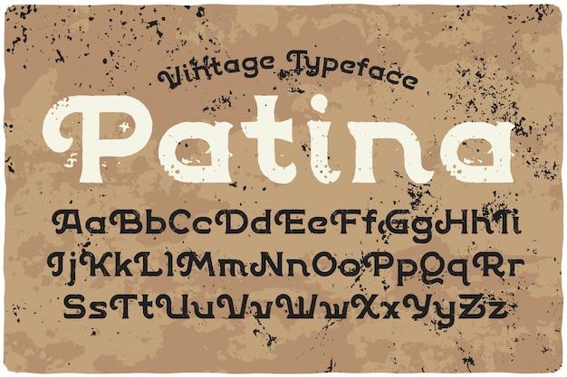 Set di caratteri vintage ruvido