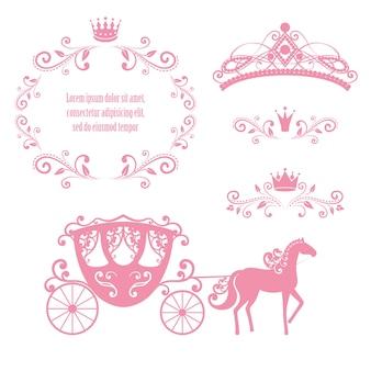 Cornice da regale vintage con corona