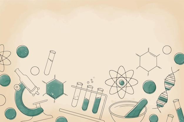 Sfondo di scienza vintage