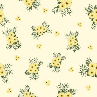 Motivo floreale vintage senza soluzione di continuità con fiori carini colorati per la stampa