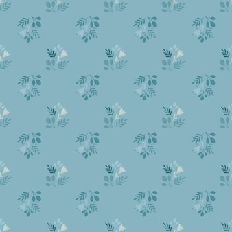 Vintage seamless pattern con piccole sagome floreali di contorno.