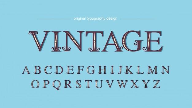 Tipografia serif personalizzata semplice vintage