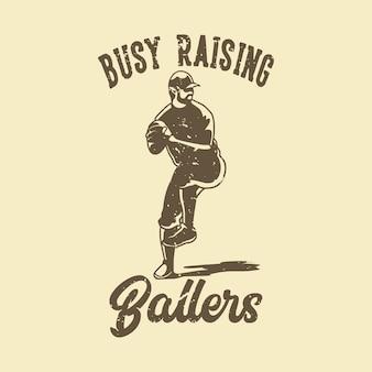 Tipografia di slogan vintage impegnata a sollevare ballerini per il design della maglietta