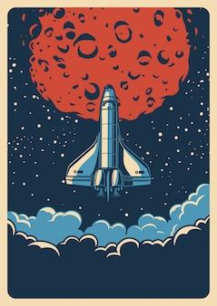 Poster colorato spazio vintage