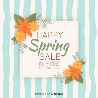 Sfondo di vendita primavera vintage