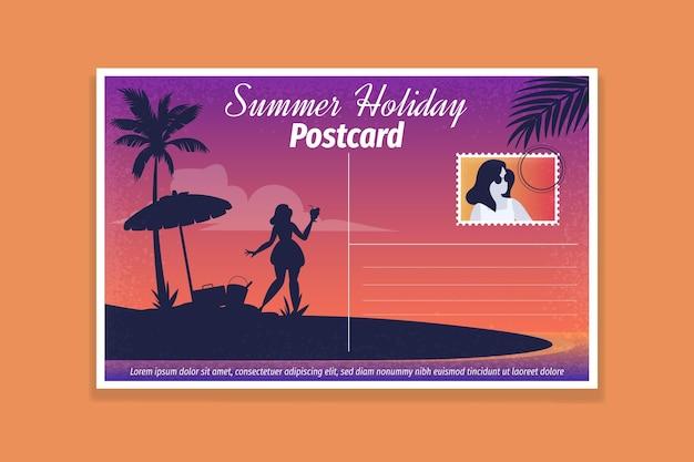 Modello di cartolina per le vacanze estive vintage