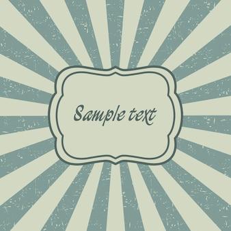 Modello vintage sunburst della vecchia carta. cartolina sunbeam, design del telaio con raggi. illustrazione vettoriale.