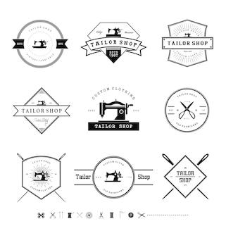 Distintivi di vintage tailor shop