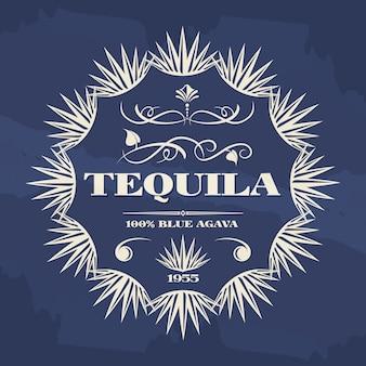 Design vintage di banner o poster di tequila