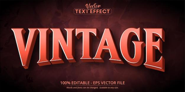 Testo vintage, effetto di testo modificabile in stile vintage