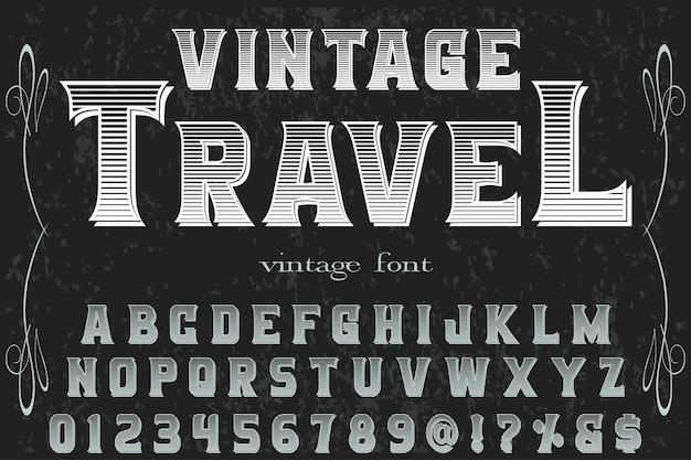 Tipografia di viaggio vintage