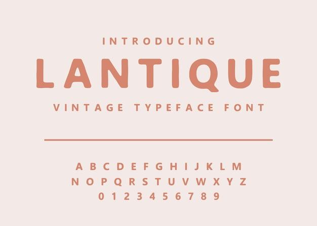 Vettore dell'alfabeto del carattere tipografico vintage