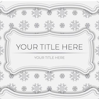 Cartolina vettoriale vintage in colore chiaro con ornamento astratto. design della carta di invito con motivi mandala.