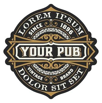 Logo del pub vintage vintage
