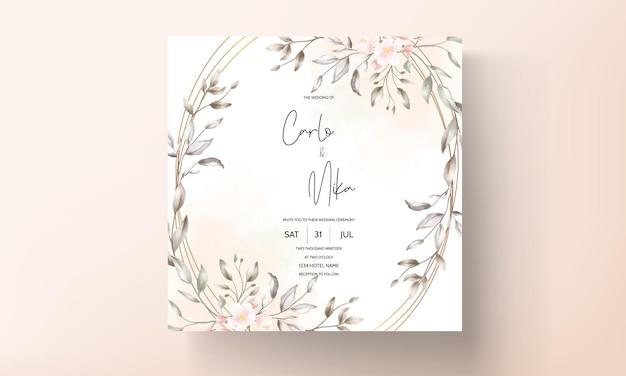 Disegno floreale della carta di nozze dell'annata