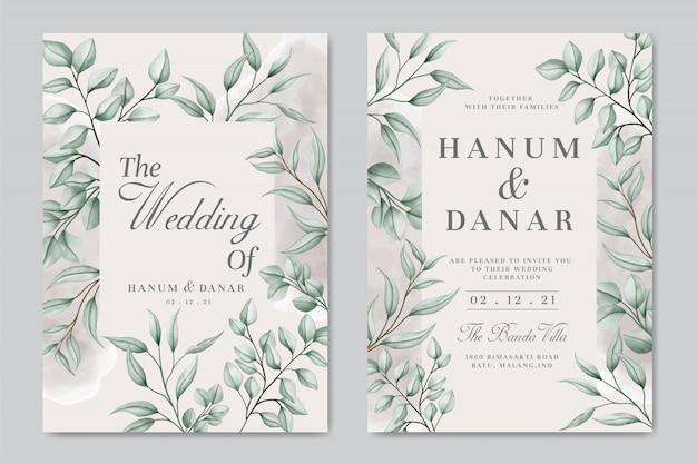 Carta di invito matrimonio vintage con sfondo cornice floreale