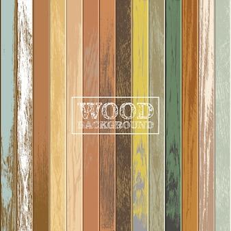 Sfondo in legno vintage con colori vecchi e sbiaditi