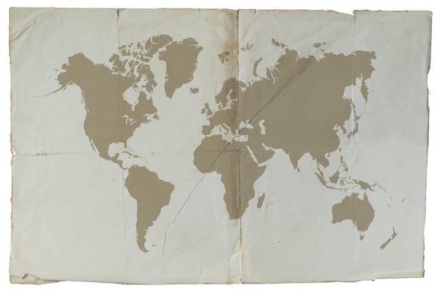 Mappa del mondo vintage