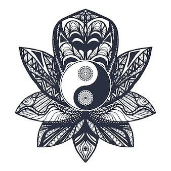 Yin e yang d'annata in lotus