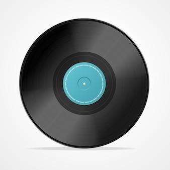 Illustrazione del disco in vinile Vettore Premium