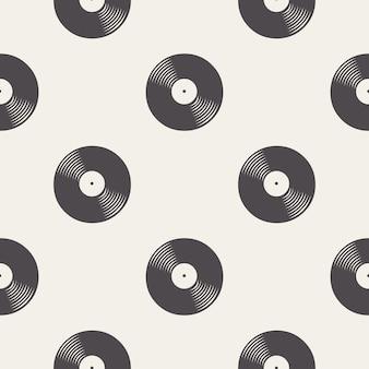 Modello di dischi in vinile, illustrazione musicale. cover creativa e di lusso