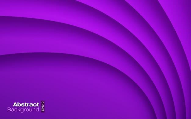 Sfondo ondulato di colore viola brillante. modello moderno del biglietto da visita. struttura dell'ombra della curva di carta. presentazione contemporanea. materiale design illustrazione.