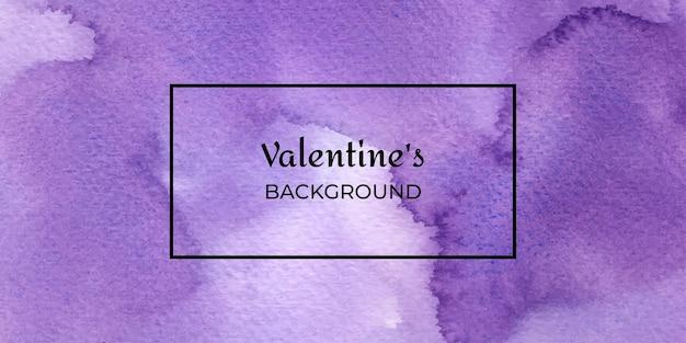 San valentino acquerello disegnato a mano viola