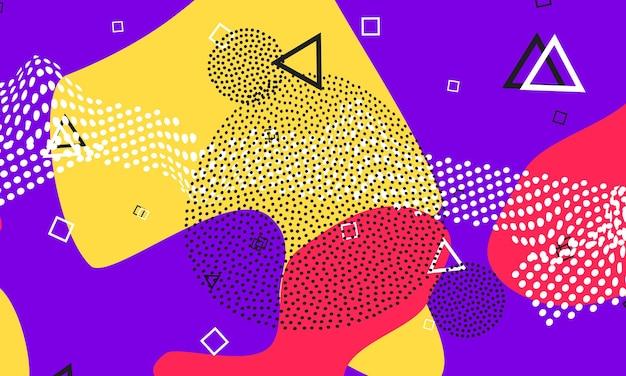 Design fluido rosso viola. volantino carino. poster di colori splash.
