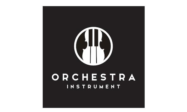 Design del logo di violino e pianoforte