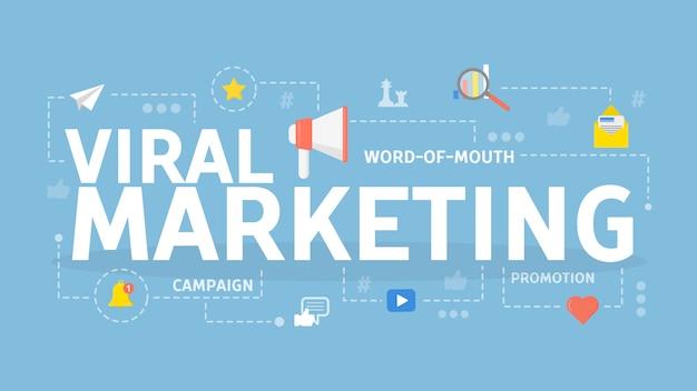 Illustrazione virale di concetto di marketing.
