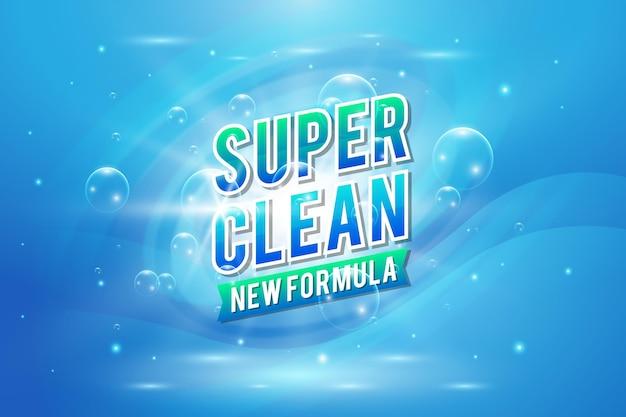 Etichetta detergente viricida e battericida